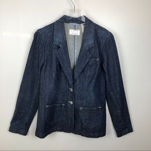 Levi's Long Jean Blazer Jacket Dark Size Large